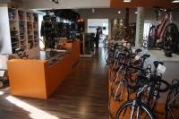 Predajňa bicyklov na poschodí